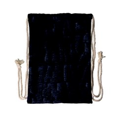 Black Burnt Wood Texture Drawstring Bag (small)