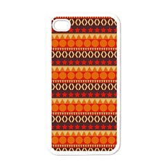 Abstract Lines Seamless Art  Pattern Apple Iphone 4 Case (white) by Amaryn4rt