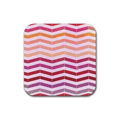 Abstract Vintage Lines Rubber Square Coaster (4 Pack)