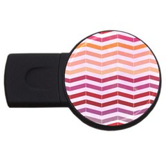 Abstract Vintage Lines Usb Flash Drive Round (2 Gb) by Amaryn4rt