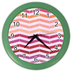 Abstract Vintage Lines Color Wall Clocks by Amaryn4rt