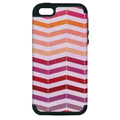 Abstract Vintage Lines Apple Iphone 5 Hardshell Case (pc+silicone) by Amaryn4rt