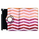 Abstract Vintage Lines Apple iPad 2 Flip 360 Case Front