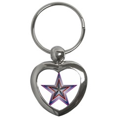 Star Abstract Geometric Art Key Chains (heart)  by Amaryn4rt