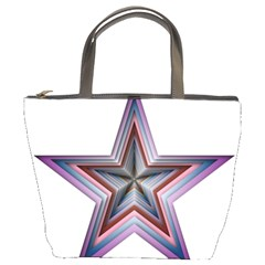 Star Abstract Geometric Art Bucket Bags by Amaryn4rt