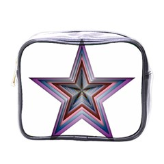 Star Abstract Geometric Art Mini Toiletries Bags by Amaryn4rt