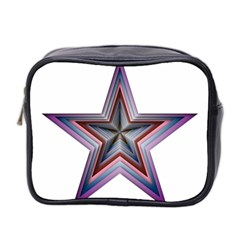 Star Abstract Geometric Art Mini Toiletries Bag 2 Side by Amaryn4rt