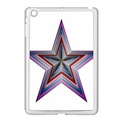 Star Abstract Geometric Art Apple Ipad Mini Case (white) by Amaryn4rt