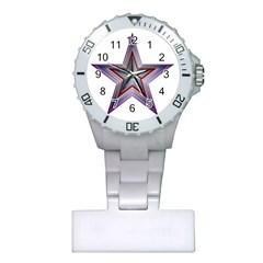 Star Abstract Geometric Art Plastic Nurses Watch by Amaryn4rt