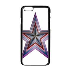 Star Abstract Geometric Art Apple Iphone 6/6s Black Enamel Case by Amaryn4rt
