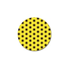 Yellow Fractal In Kaleidoscope Golf Ball Marker by Amaryn4rt
