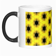Yellow Fractal In Kaleidoscope Morph Mugs by Amaryn4rt