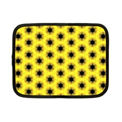 Yellow Fractal In Kaleidoscope Netbook Case (small)  by Amaryn4rt