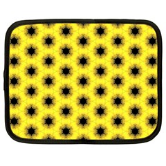 Yellow Fractal In Kaleidoscope Netbook Case (xl)  by Amaryn4rt
