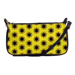 Yellow Fractal In Kaleidoscope Shoulder Clutch Bags by Amaryn4rt