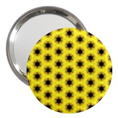 Yellow Fractal In Kaleidoscope 3  Handbag Mirrors by Amaryn4rt