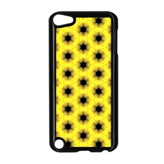 Yellow Fractal In Kaleidoscope Apple Ipod Touch 5 Case (black) by Amaryn4rt