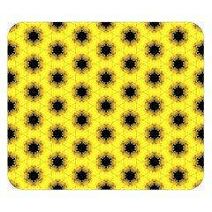 Yellow Fractal In Kaleidoscope Double Sided Flano Blanket (small)  by Amaryn4rt
