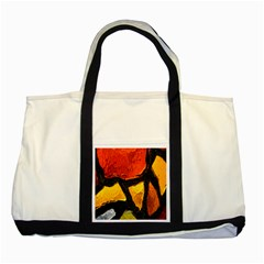 Colorful Glass Mosaic Art And Abstract Wall Background Two Tone Tote Bag by Amaryn4rt