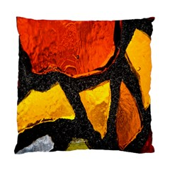 Colorful Glass Mosaic Art And Abstract Wall Background Standard Cushion Case (one Side) by Amaryn4rt