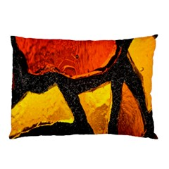Colorful Glass Mosaic Art And Abstract Wall Background Pillow Case