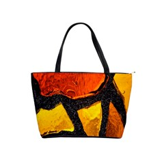Colorful Glass Mosaic Art And Abstract Wall Background Shoulder Handbags by Amaryn4rt