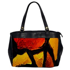 Colorful Glass Mosaic Art And Abstract Wall Background Office Handbags by Amaryn4rt