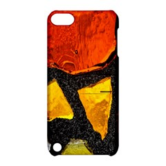 Colorful Glass Mosaic Art And Abstract Wall Background Apple Ipod Touch 5 Hardshell Case With Stand by Amaryn4rt