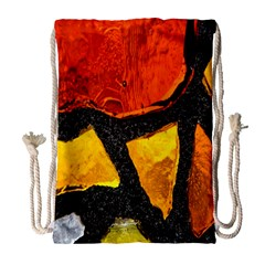 Colorful Glass Mosaic Art And Abstract Wall Background Drawstring Bag (large) by Amaryn4rt