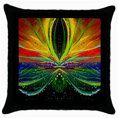 Future Abstract Desktop Wallpaper Throw Pillow Case (black) by Amaryn4rt