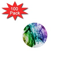 Colour Smoke Rainbow Color Design 1  Mini Magnets (100 pack)