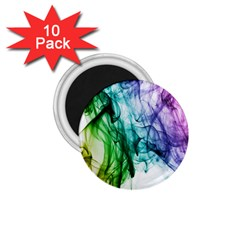 Colour Smoke Rainbow Color Design 1.75  Magnets (10 pack)