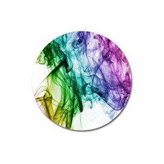 Colour Smoke Rainbow Color Design Magnet 3  (round) by Amaryn4rt