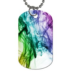 Colour Smoke Rainbow Color Design Dog Tag (Two Sides)