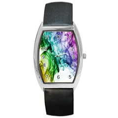 Colour Smoke Rainbow Color Design Barrel Style Metal Watch
