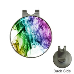 Colour Smoke Rainbow Color Design Hat Clips with Golf Markers