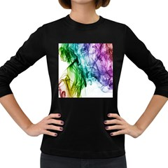 Colour Smoke Rainbow Color Design Women s Long Sleeve Dark T-Shirts