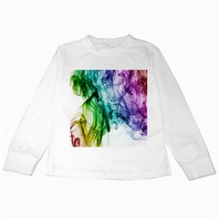 Colour Smoke Rainbow Color Design Kids Long Sleeve T-Shirts