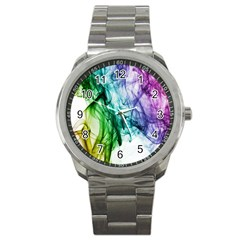 Colour Smoke Rainbow Color Design Sport Metal Watch