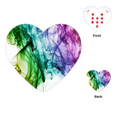 Colour Smoke Rainbow Color Design Playing Cards (Heart)