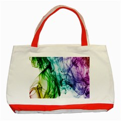 Colour Smoke Rainbow Color Design Classic Tote Bag (Red)