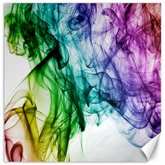Colour Smoke Rainbow Color Design Canvas 16  X 16   by Amaryn4rt
