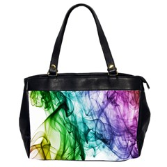 Colour Smoke Rainbow Color Design Office Handbags (2 Sides)