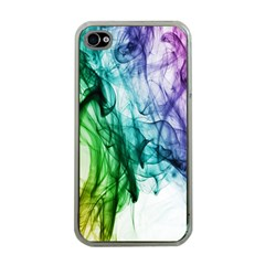 Colour Smoke Rainbow Color Design Apple iPhone 4 Case (Clear)