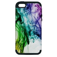 Colour Smoke Rainbow Color Design Apple iPhone 5 Hardshell Case (PC+Silicone)