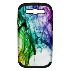 Colour Smoke Rainbow Color Design Samsung Galaxy S III Hardshell Case (PC+Silicone)