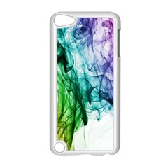 Colour Smoke Rainbow Color Design Apple iPod Touch 5 Case (White)