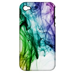 Colour Smoke Rainbow Color Design Apple Iphone 4/4s Hardshell Case (pc+silicone) by Amaryn4rt