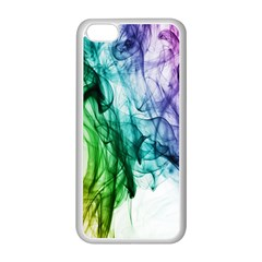 Colour Smoke Rainbow Color Design Apple iPhone 5C Seamless Case (White)