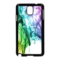Colour Smoke Rainbow Color Design Samsung Galaxy Note 3 Neo Hardshell Case (Black)